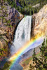 Rainbow over Canyon Falls in Yellowstone National Park