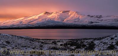 Sunrise at Lake Sarmiento