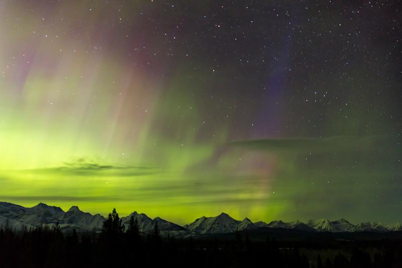 Northern Lights from Schnaus Cabin near Polebridge - III