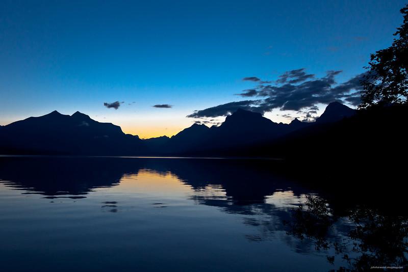 Dawn in Glacier Park, Lake McDonald