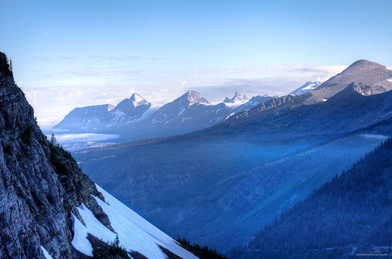 Dawn in Glacier Park from Logan Pass