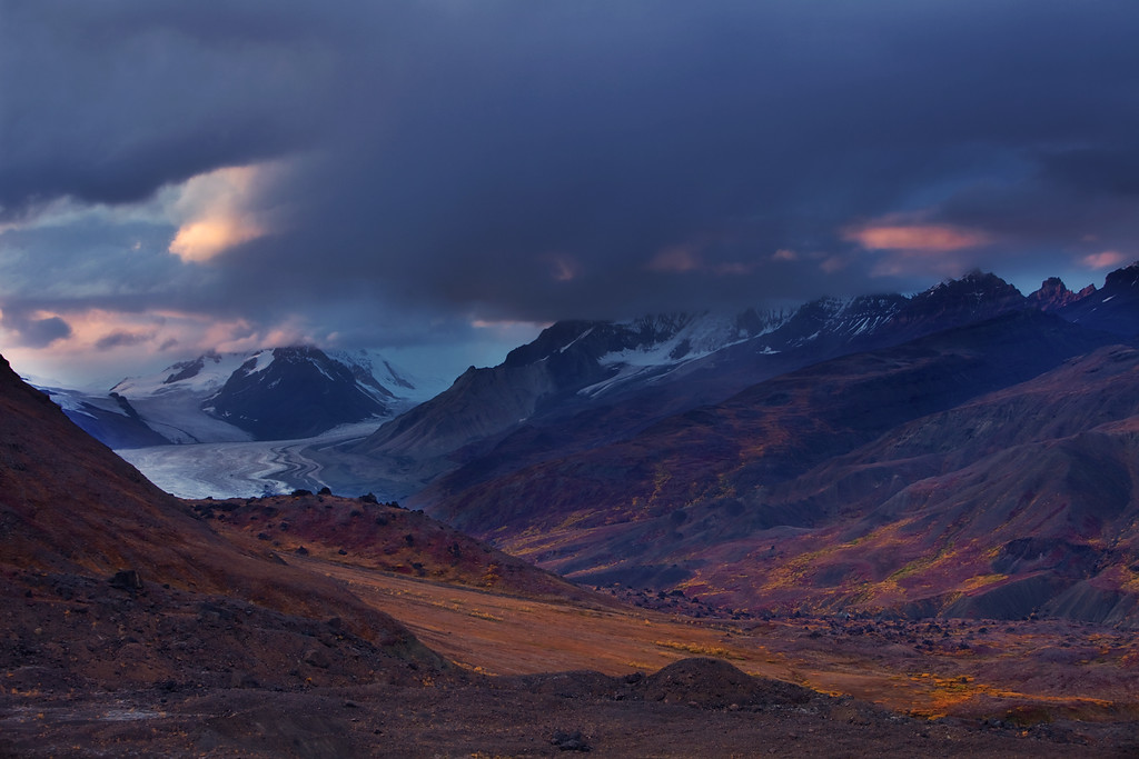 Sunset Storm over Skolai Pass III