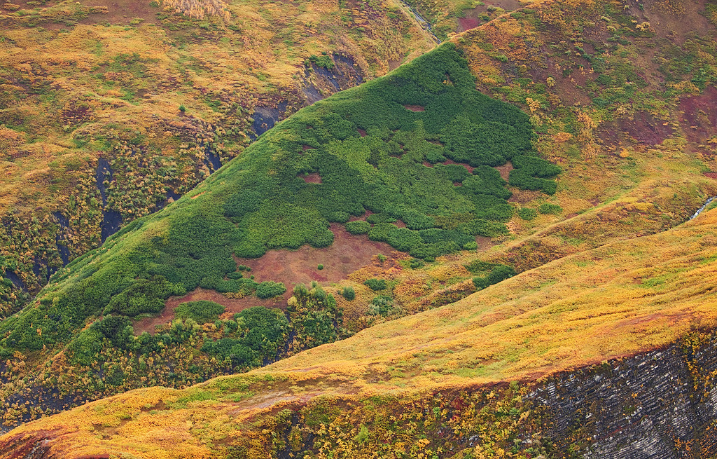 Slopes of Color II, aerial view, Wrangell-St. Elias National Park, Alaska.