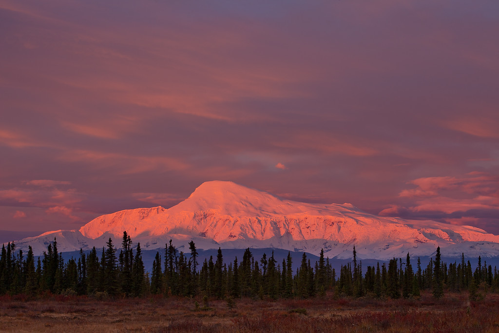 Mount Sanford at Sunrise, Wrangell=St. Elias National Park, Alaska