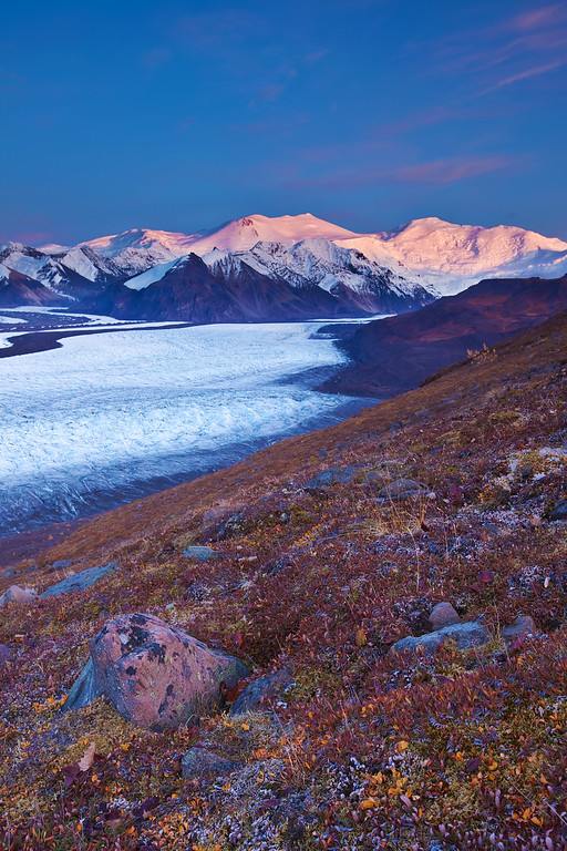Mt. Churchill and Mt. Bona - Wrangell-St. Elias National Park, AK Russel Glacier (vertical)