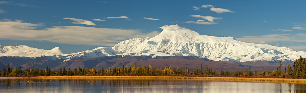 Mount Sanford Panorama, Wrangell-St. Elias National Park, Alaska