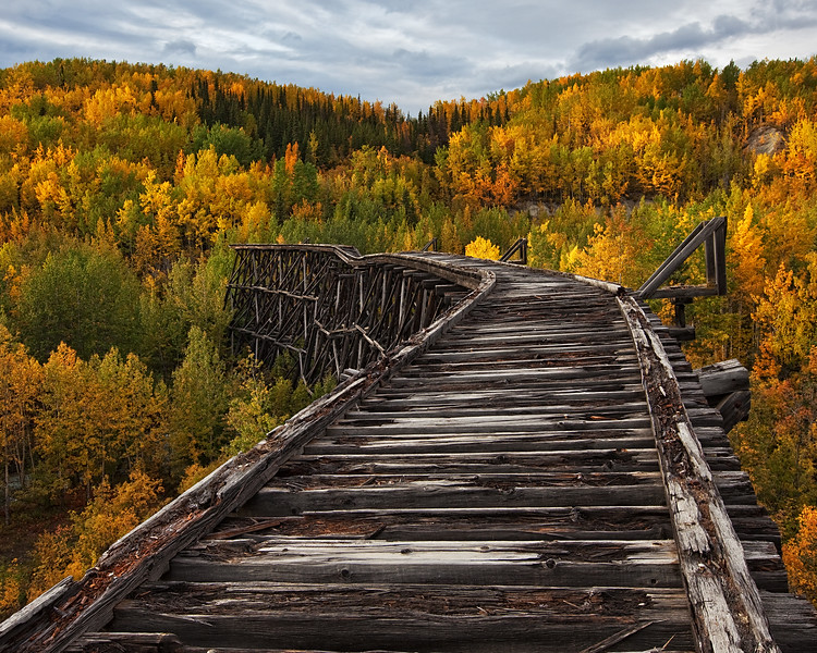 Bridge to Nowhere... - Gilahina Trestle, Wrangell-St. Elias National Park