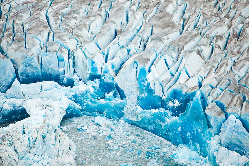 Blue Ice, aerial view, Wrangell-St. Elias National Park, Alaska.