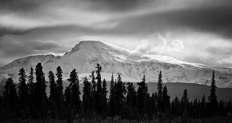 Mount Sanford (the backlit profile Carl refused to photograph :}<br /> Wrangell-St. Elias National Park, AK