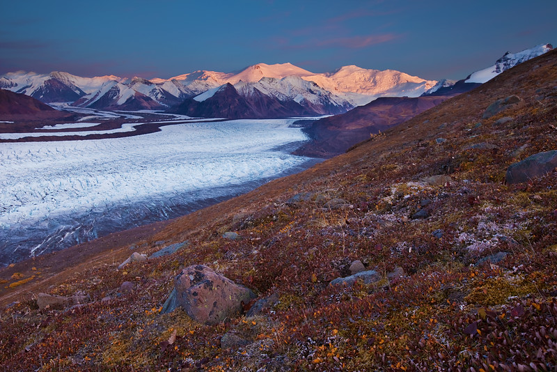 Mt. Churchill and Mt. Bona - Wrangell-St. Elias National Park, AK Russel Glacier (horizontal)