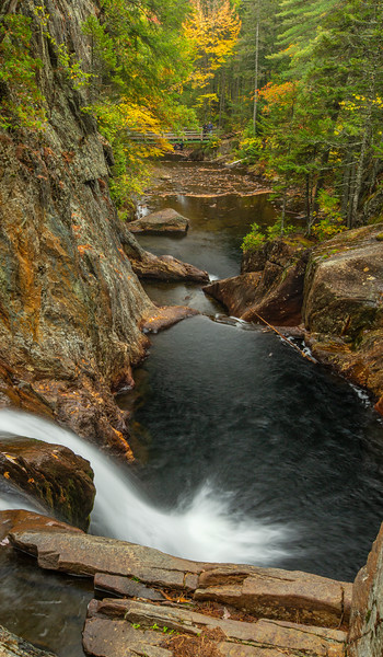 Smalls Falls From the Top, near Rangeley, Maine