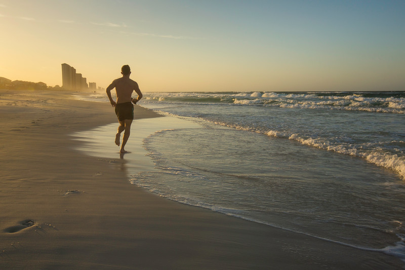 Morning Run, Laguna Beach, Florida