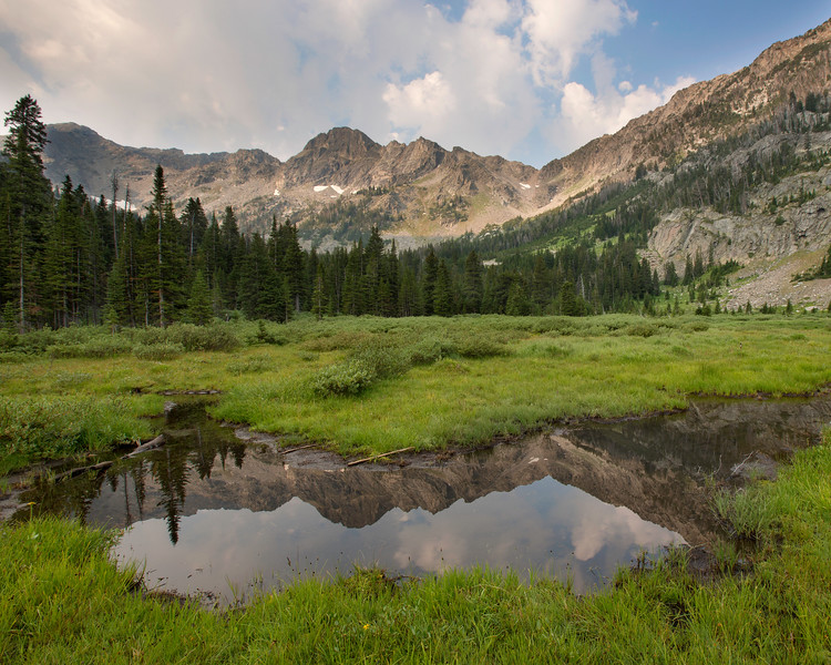 Morning at Mirror Lake 2, Lee Metcalf Wilderness, Spanish Peaks Unit, Montana