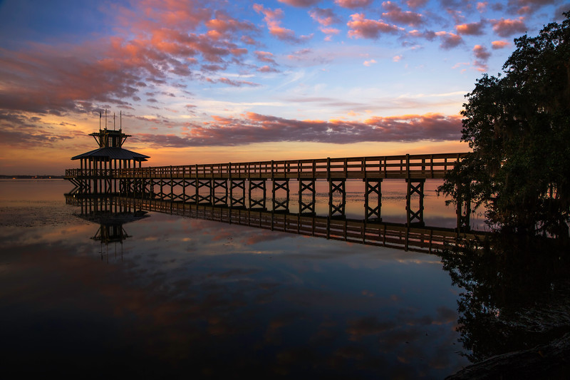 Sunrise, Pier on the St. Johns River