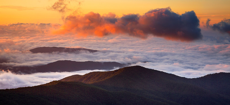 Sunrise from Clingman's Dome.  Great Smoky Mountains National Park