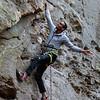 Kai Lightner having fun in Red River Gorge, Kentucky