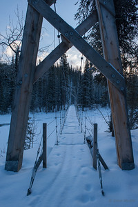 Suspension bridge over Riley Creek, Denali National Park