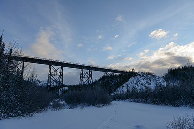 Alaska Railroad Bridge over Riley Creek, Denali National Park