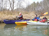 Group of boats -  Chestatee River - Feb 24, 2007