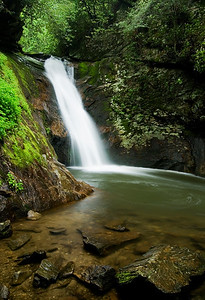 Another view of Courthouse Falls, near Brevard, NC.