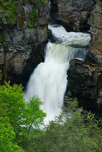 Linville Falls is a popular spot for tourists.  There are several hiking trails providing several different views of the falls.  Go early in the day if you want to avoid the crowds!  Near milepost 316, Blue Ridge Parkway, NC.