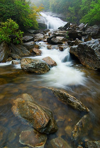 Second Falls at Graveyard Fields, milepost 418, Blue Ridge Parkway, NC.