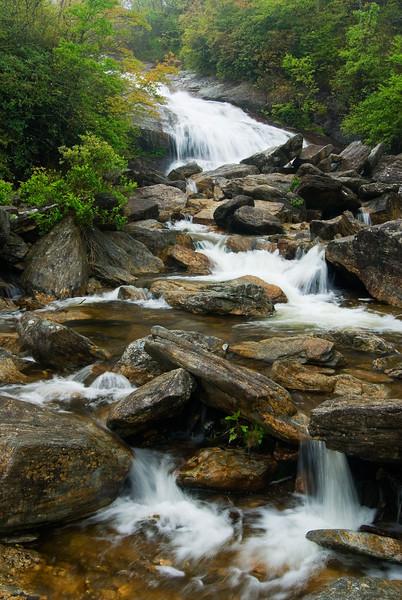 Second Falls at Graveyard Fields, milepost 418, Blue Ridge Parkway, NC.