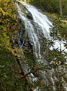 Autumn at Crabtree Falls, near the Blue Ridge Parkway, western North Carolina.