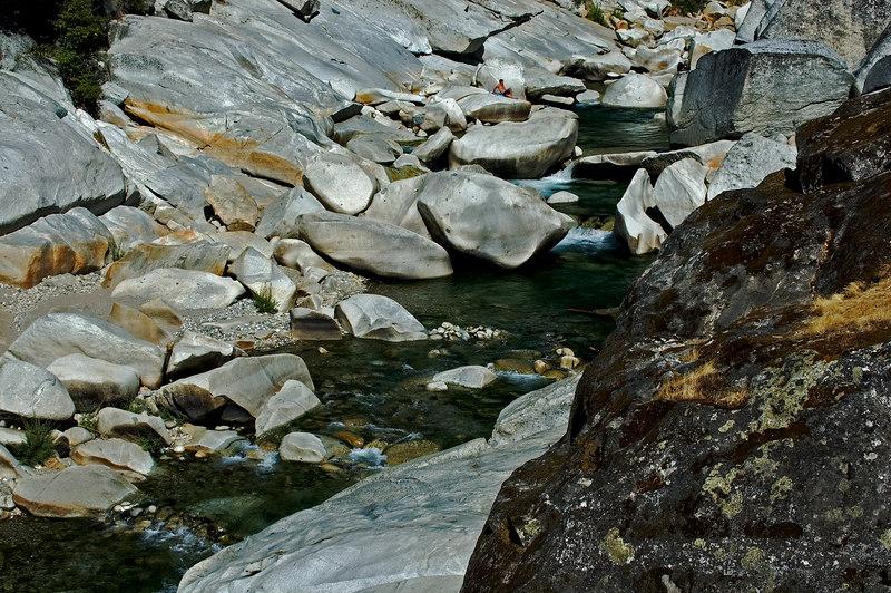 Green Water & Rocks