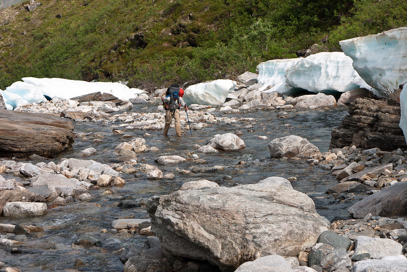 Hiking up Arrigetch Creek