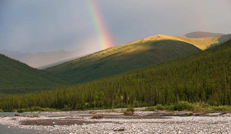 Rainbow across Alatna river - Brooks Range Alaska