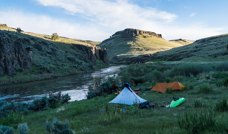 Last night on Owyhee - hot springs in distant background