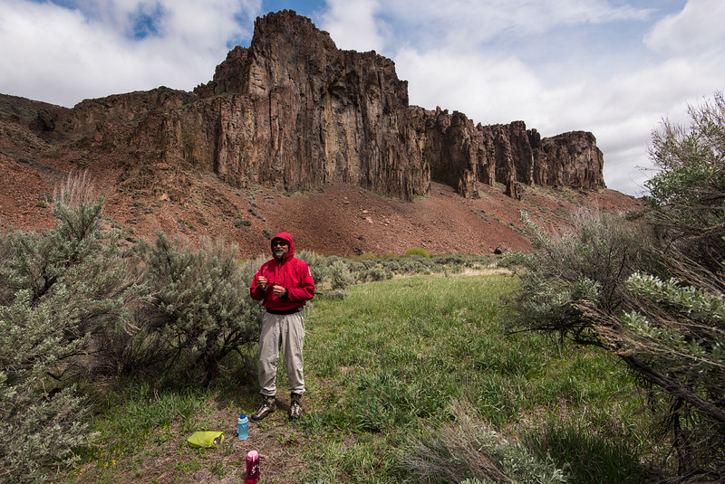 Chilly lunch at Wiley - E Frk Owyhee