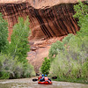 Stained over hanging cliffs on Escalante