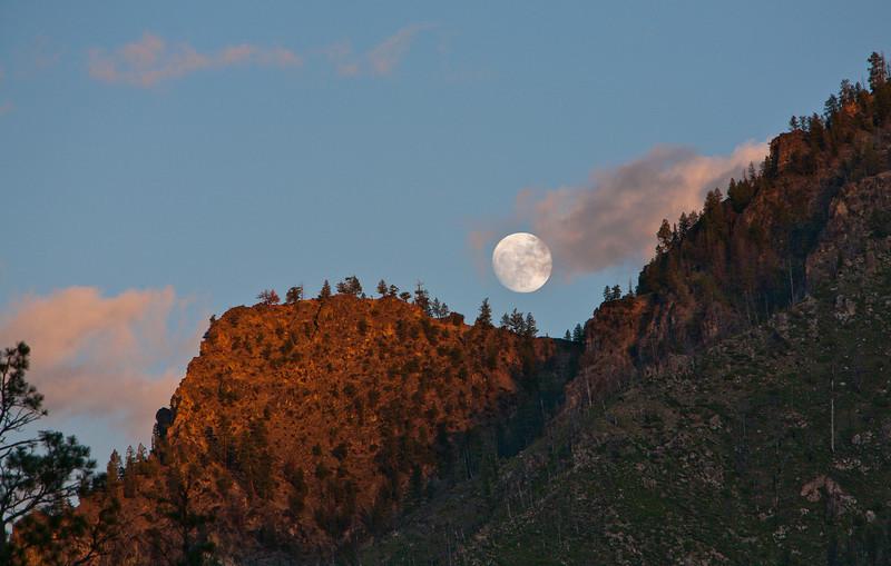 Near full moon at Pungo camp