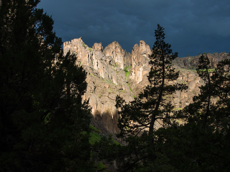 Showers threatening - first night on Jarbidge