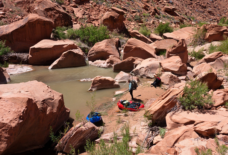 Mandatory portage - Escalante River Utah