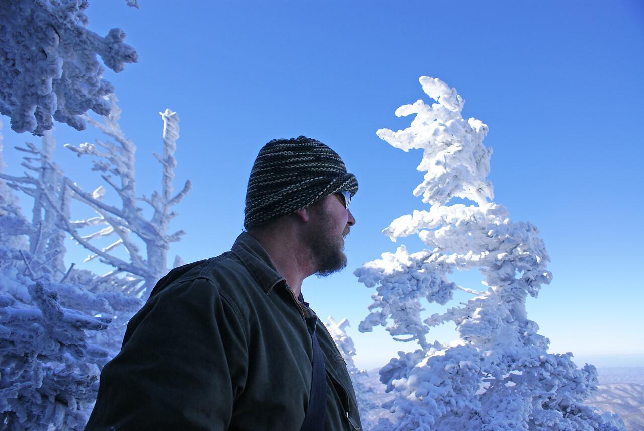 Tim Glenn and frozen trees