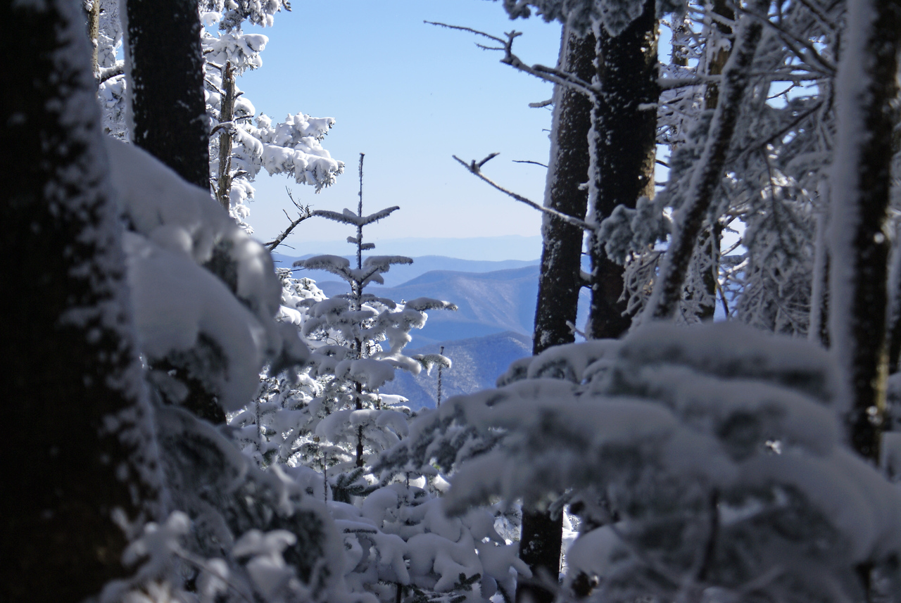 Awesome view near the upper bluff on Roan Mountain - winter 2008