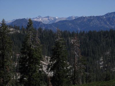 Looking northeast to peaks in Kings Canyon National Park.