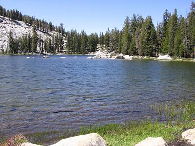 Weaver Lake in Jennie Lakes wilderness, looking west.