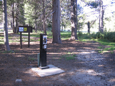 Pay-phone just across the road from Big Meadows Ranger Station, near trailhead.