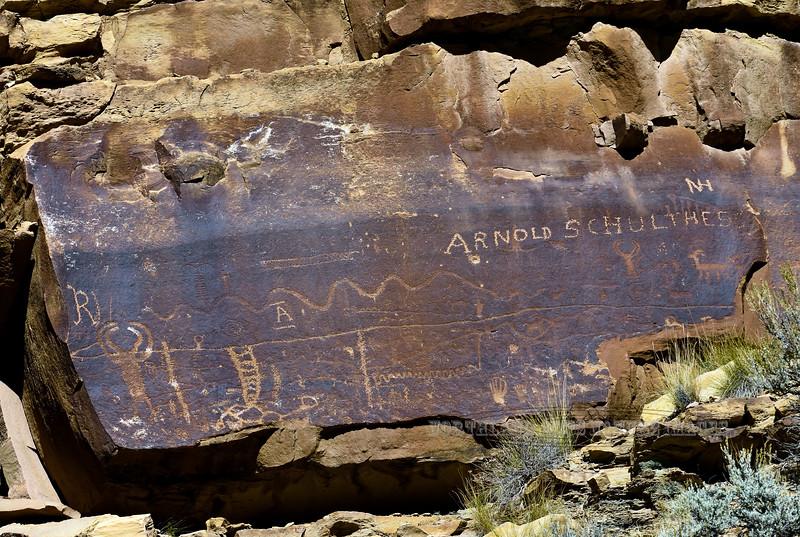 UT-NMC2017.10.7am11.40#323- Petroglyphs. Nine Mile Canyon Utah.