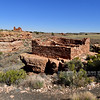 AZ-WNM2018.10.26#389- Box Canyon Ruins in the foreground with Lomatki ruins in the distance. Wupatki Nat. Monument Arizona.