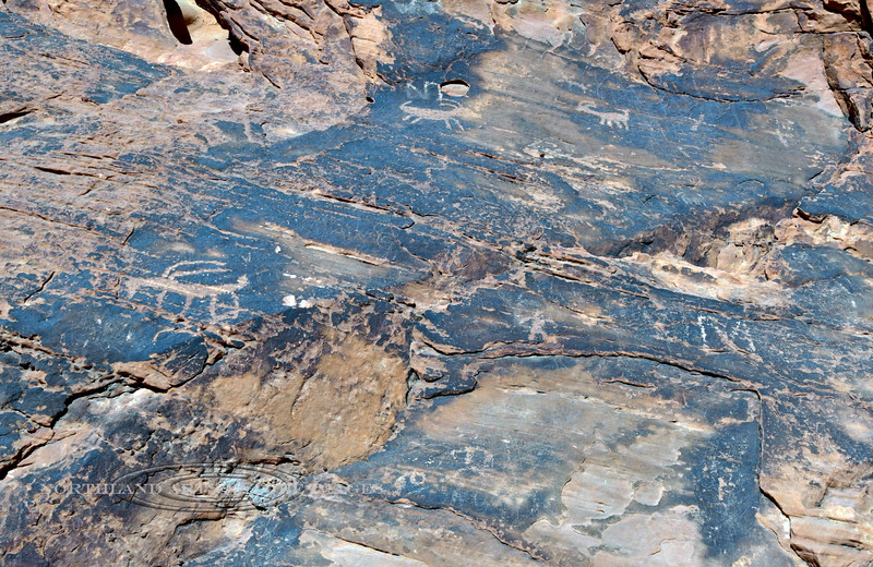 NV-VOF2019.10.12#1400.2. Petroglyphs from the Basketmaker Culture near the CCC Cabins, VOFSP, Nevada.