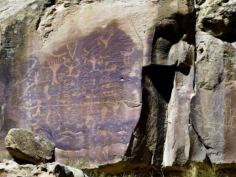 UT-NMC2017.10.7pm1.16#379- Petroglyphs. Nine Mile Canyon Utah.