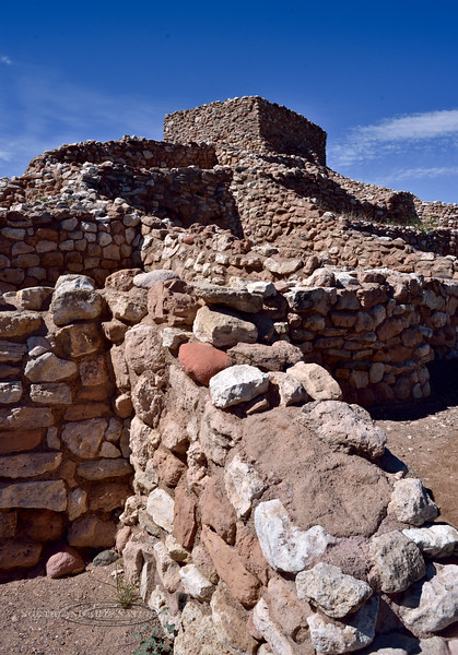 AZ-TZNM-2019.4.19#728.3. South facing rooms of the Tuzigoot Nat. Monument. Cottonwood, Arizona.