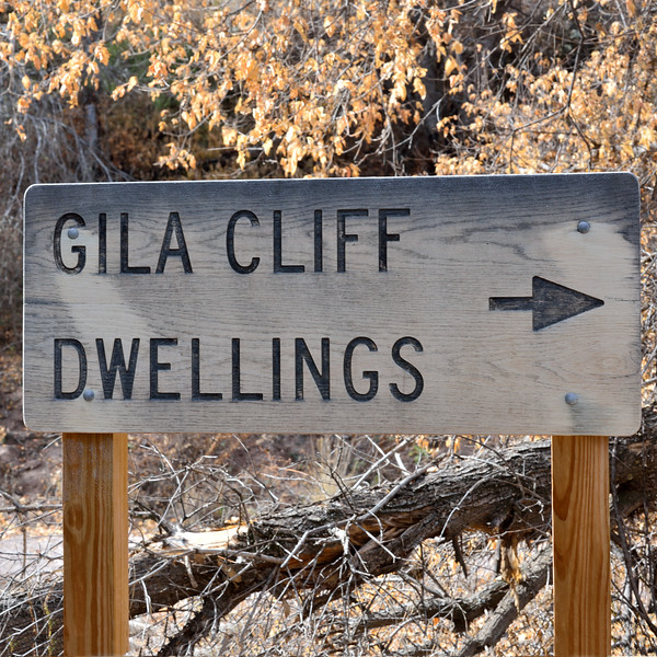 NM-GCD1-2019.11.9. Trail to the Gila Cliff Dwellings. Mogollon culture 1280 A.D. to early 1300's. Gila Wilderness, New Mexico.