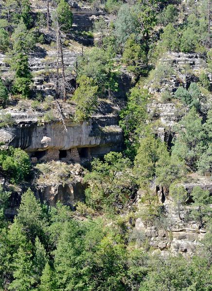 AZ-WCNM-2019.10.2#379.3. Sinagua cliff dwellings in Walnut Canyon near Flagstaff Arizona.