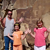 WY-2009.7.17#0047- Rick, Riley and Siri Ullery at a Petroglyph site. Wyoming.